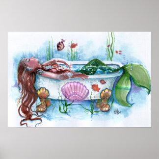 Het zoete Leven, Meermin in een Badkuip Poster