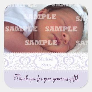 Het zoete Lila Baby van de Band dankt u Stickers