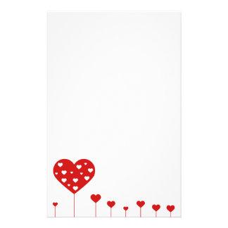 Het zoete Mooie Romantische Briefhoofd van de Briefpapier