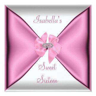 Het zoete Mooie Roze van de Partij van Verjaardag 13,3x13,3 Vierkante Uitnodiging Kaart