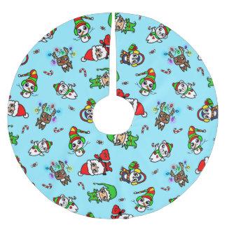 Het zoete patroon van het Karakter van Kerstmis Kerstboom Rok