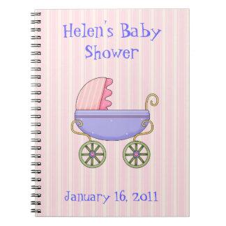Het zoete Roze Notitieboekje van het Baby shower Ringband Notitieboek