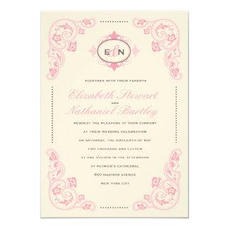 Het zoete Roze van de Uitnodiging van het Huwelijk