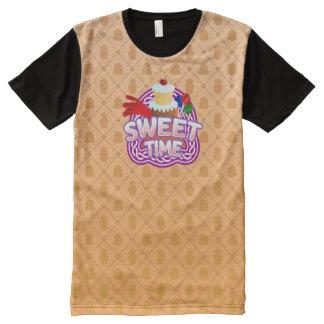 Het zoete sinaasappel van de Tijd Al Gedrukte All-Over-Print T-shirt