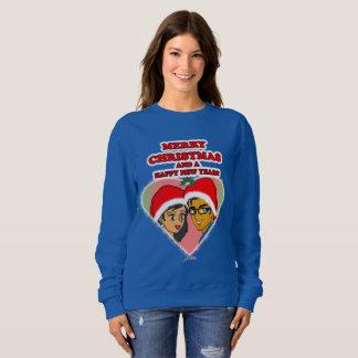 Het zoete Sweatshirt van het Hart van Kerstmis van