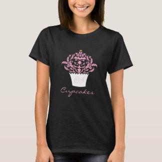 Het zoete T-shirt van het Damast van Cupcake van