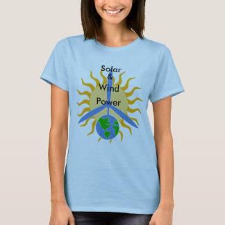 Het zonne, &, Wind, Overhemd van Power_Women T Shirt