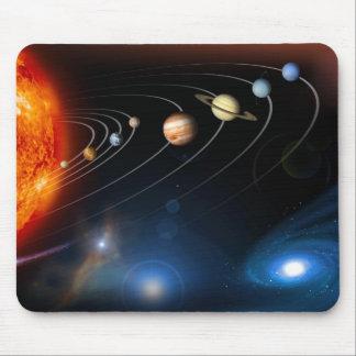Het zonnestelsel en voorbij Mousepad Muismat