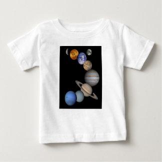 Het zonnestelsel strekt zich onze planeten uit baby t shirts