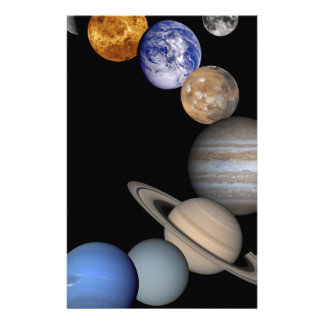 Het zonnestelsel strekt zich onze planeten uit briefpapier