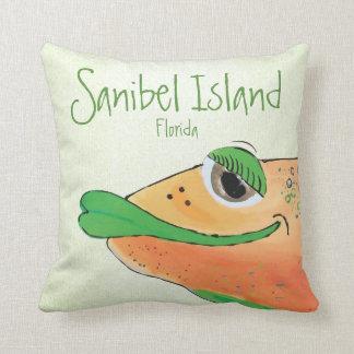 Het zoute Eiland FL van Sanibel van de Kunst van Sierkussen