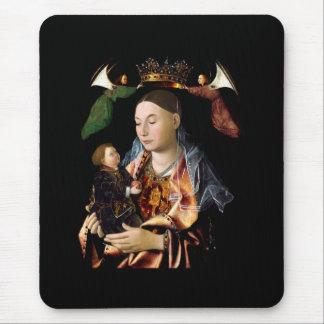 Het zouten van Madonna en het Kind van Christus Muismat