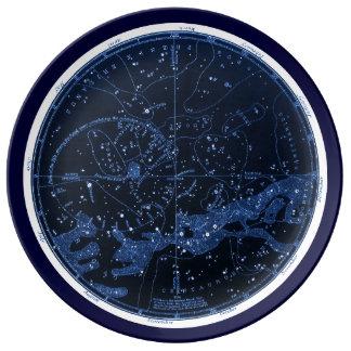 Het zuidelijke Bord van Constellaties Porseleinen Bord