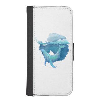 Het zuidelijke OceaanHeiligdom van de Walvis iPhone 5 Portemonnee Hoesje