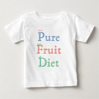 Het zuivere Dieet van het Fruit (kleur) Baby T Shirts
