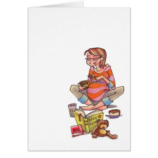 Het zwangere Roomijs Notecard van Vrouwen Kaart