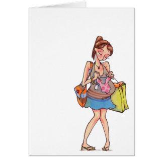 Het zwangere Winkelen Notecard van Vrouwen Notitiekaart