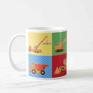 Het Zware Materiaal van het vervoer - Collage Koffiemok