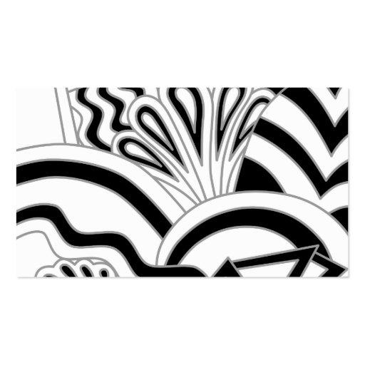 Het zwart wit ontwerp van het art deco visitekaartjes sjabloon zazzle - Deco corridor zwart wit ...
