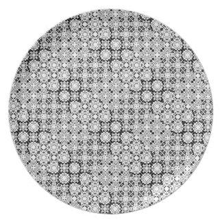 Het zwart-witte Bord van het Patroon van het Kant