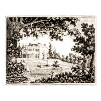 Het zwart-witte Briefkaart van het Buitenhuis