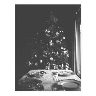 Het zwart-witte Briefkaart van Kerstmis