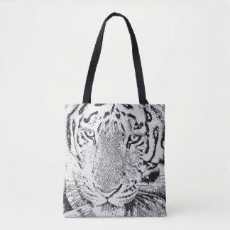 Het zwart-witte Canvas tas van de Tijger