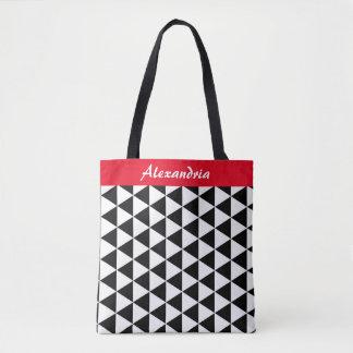 Het zwart-witte Canvas tas van Driehoeken