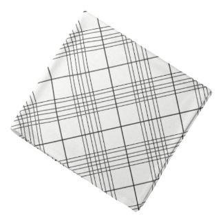 Het zwart-witte Gecontroleerde Patroon van het Bandana