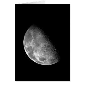 Het zwart-witte Halve Afbeelding van de Maan Briefkaarten 0