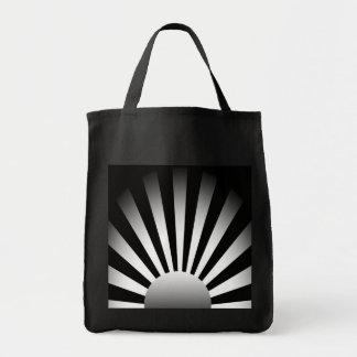 Het zwart-witte het Toenemen Canvas tas van de Zon