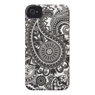Het zwart-witte Hoesje van Paisley Iphone