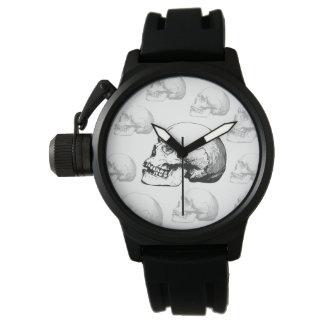 Het Zwart-witte Horloge van de vintage Schedel