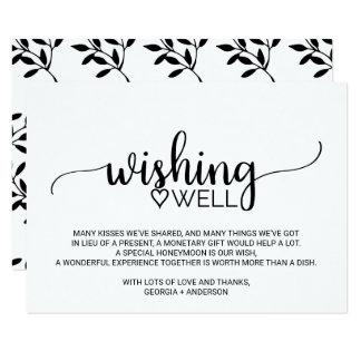Het zwart-witte Huwelijk die van de Kalligrafie 8,9x12,7 Uitnodiging ...