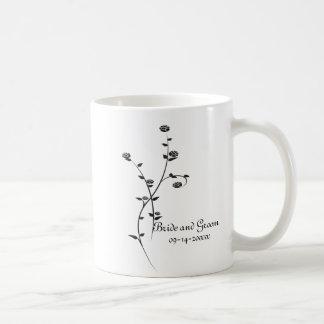 Het zwart-witte Huwelijk van Rozen Koffiemok