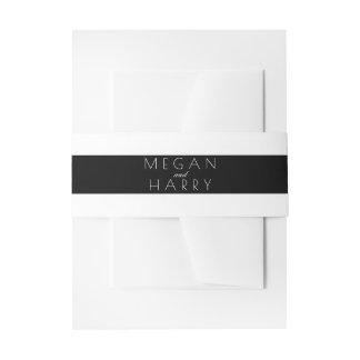 Het zwart-witte Huwelijk van Strepen Uitnodigingen Wikkel