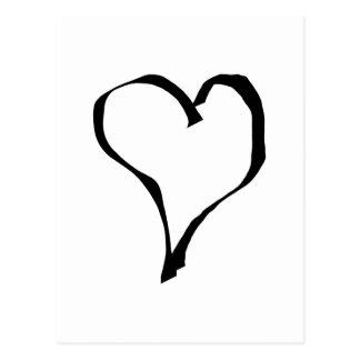 Het zwart-witte Ontwerp van het Hart van de Liefde Briefkaart