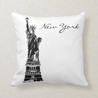 Het zwart-witte Oriëntatiepunt van New York Sierkussen