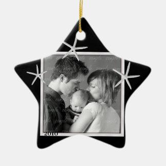 Het zwart-witte Ornament van het Lijst van de Foto
