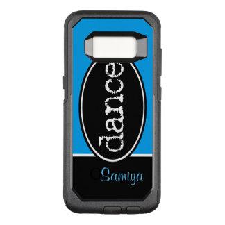 Het zwart-witte Ovaal van de Dans OtterBox Commuter Samsung Galaxy S8 Hoesje