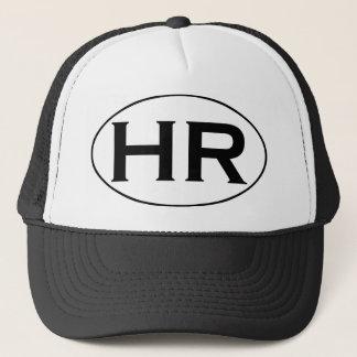 Het Zwart-witte Ovale Logo van u Hampton Roads Trucker Pet