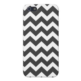 Het zwart-witte Patroon van de Chevron iPhone 5 Hoesje