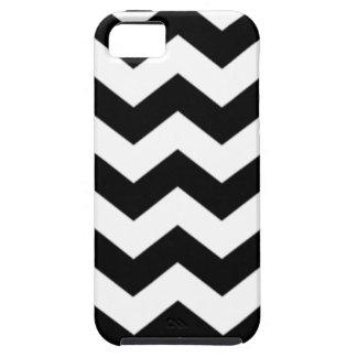 Het zwart-witte Patroon van de Chevron Tough iPhone 5 Hoesje