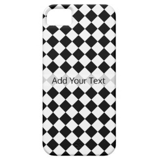 Het zwart-witte Patroon van de Diamant door Barely There iPhone 5 Hoesje