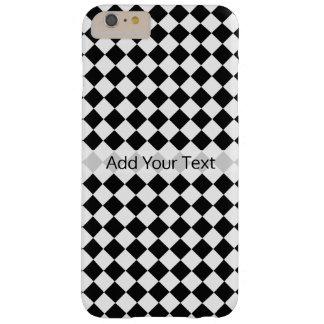 Het zwart-witte Patroon van de Diamant door Barely There iPhone 6 Plus Hoesje