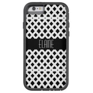 Het zwart-witte Patroon van de Diamant Tough Xtreme iPhone 6 Hoesje