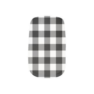 Het zwart-witte Patroon van de Gingang Minx Nail Folie