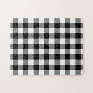 Het zwart-witte Patroon van de Gingang Puzzel