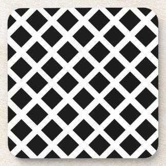 Het zwart-witte Patroon van de Optische illusie Bier Onderzetter