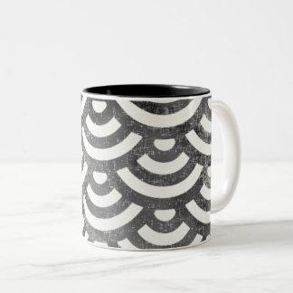 Het zwart-witte Patroon van de Pastelkleur van de Tweekleurige Koffiemok